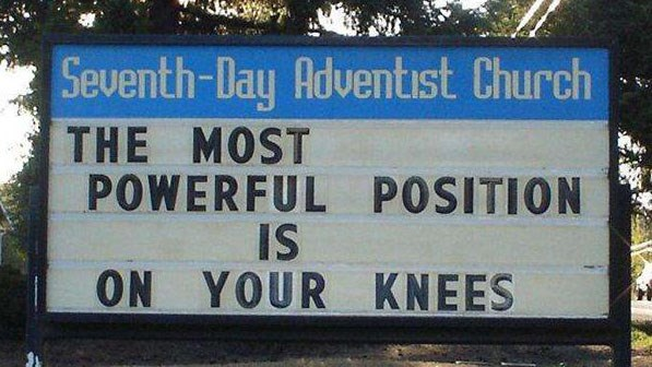 Collection of pictures of funny church signs.