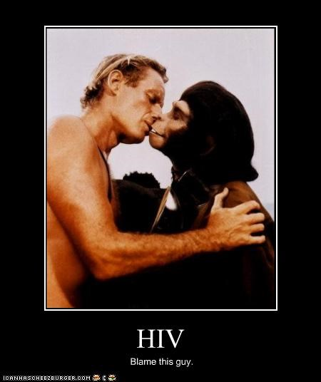 blame,Charleton Heston,hiv,Planet of the Apes