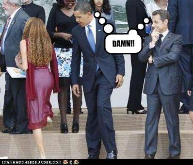 barack obama democrats france Nicolas Sarkozy president women - 2385956096