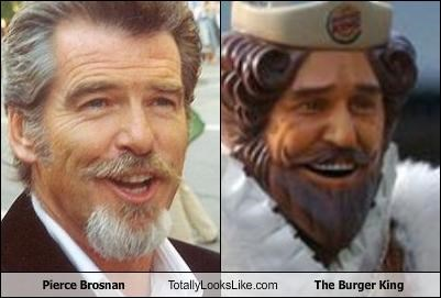 actor,fast food,mascots,pierce brosnan,the burger king
