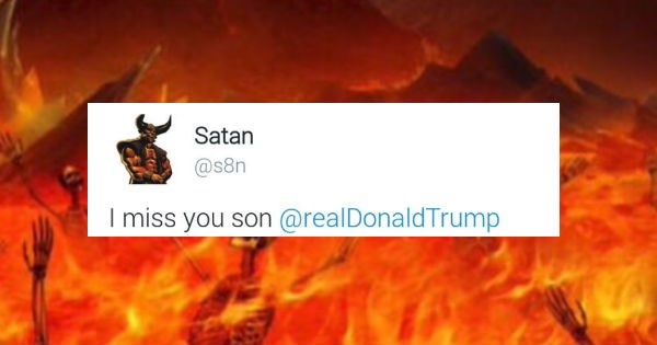 Times Satan's Twitter account was a dark humored laughing factory.