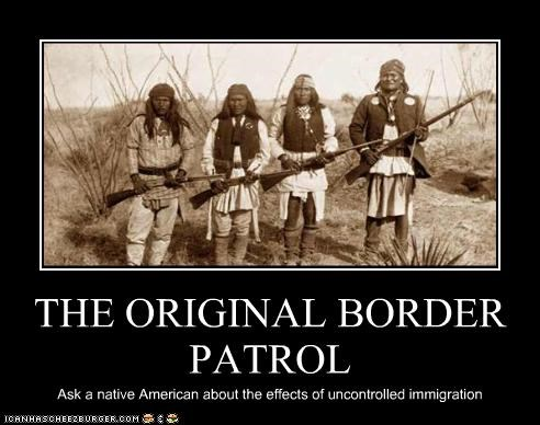 border patrol Historical immigration native americans