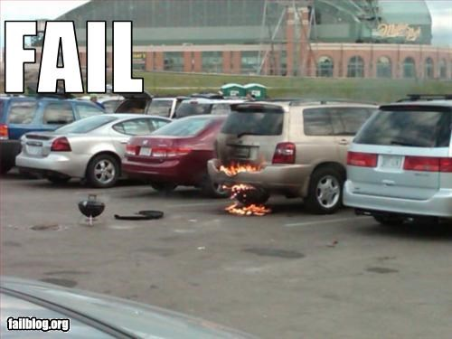 bbq car failboat fire grill Party tailgate van