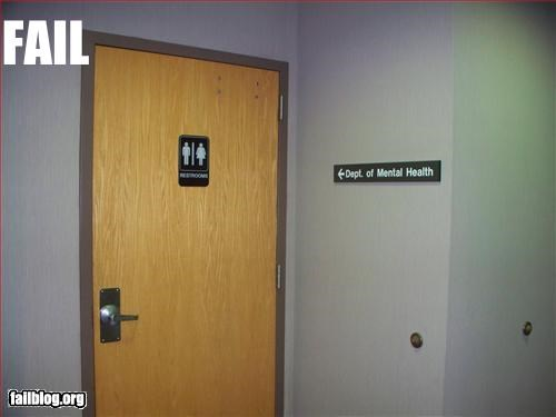 bathroom,directions,failboat,g rated,mental health,offices,signs