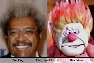 animation boxing Don King hair style heat miser
