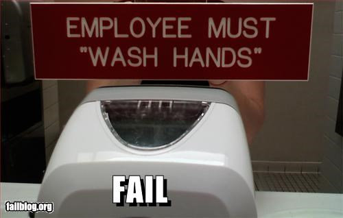 at work failboat g rated gross hands punctuation Quotation quote sanitation - 2397333760