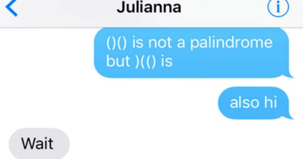 Funny text messages that'll keep you entertained. | oo Verizon LTE 03:44 1 11 Julianna 00 is not palindrome but is also hi Wait No uts not first one is Why are lying Wait need second Oh fuck Oh Jesus right Oh my god iMessage