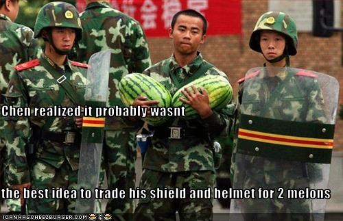 military,police,riot gear,watermelon