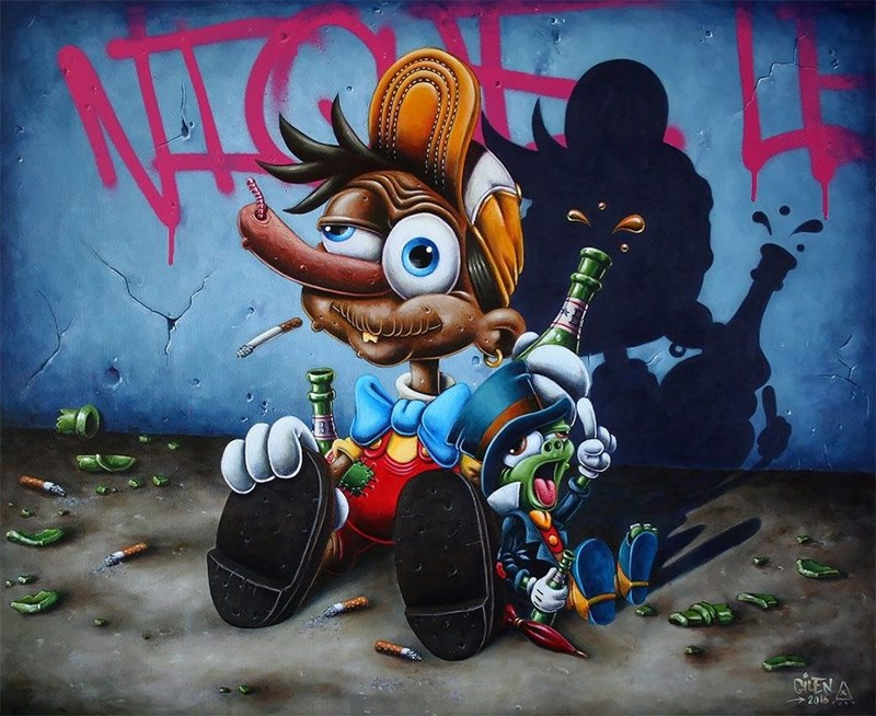 French artist paint Disney characters in a whole new way