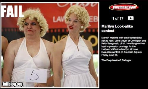 beauty contest g rated lookalikes marilyn monroe ugly