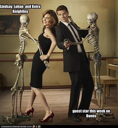 Lindsay Lohan and Keira Knightley guest star this week on Bones