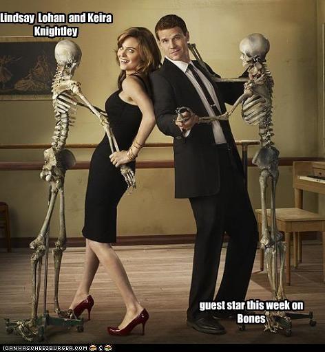 anorexia bones David Boreanaz Emily Deschanel Keira Knightley lindsay lohan TV - 2407942400