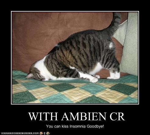 WITH AMBIEN CR You can kiss Insomnia Goodbye!