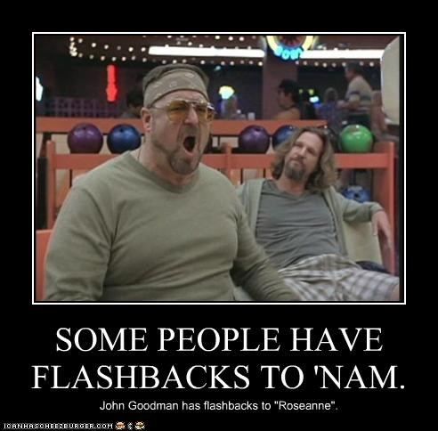 flashbacks,jeff bridges,john goodman,movies,roseanne,the big lebowski,the dude,TV