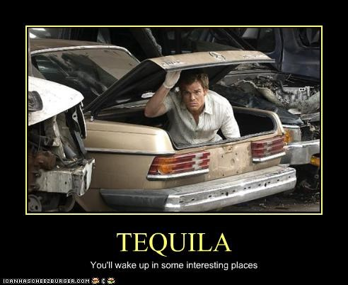 Dexter drinking michael c hall showtime tequila TV - 2409507584