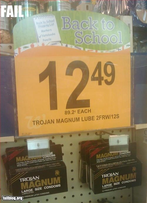 back to school condoms Hall of Fame Product Placement sale store