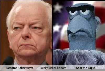 politics,robert byrd,Sam the Eagle,senator,The Muppet Show