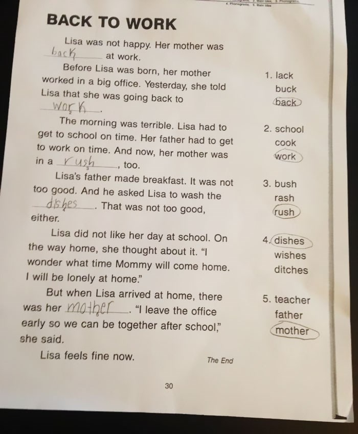 Mom rewrites her daughter's sexist homework assignment