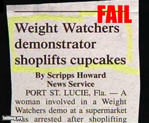 article cake diet newspaper Police Blotter steal weight watchers - 2417017088