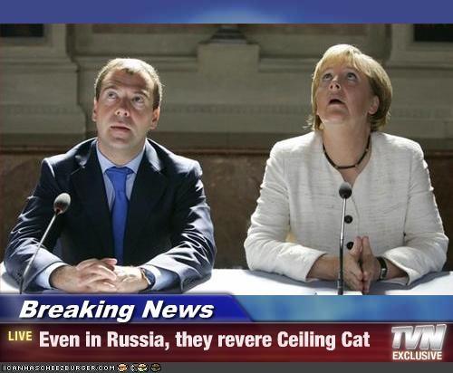 angela merkel Dmitry Medvedev Germany lolcats president russia - 2417933056
