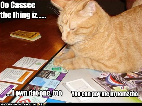 Oo Cassee the thing iz...... ....I own dat one, too Yoo can pay me in nomz tho