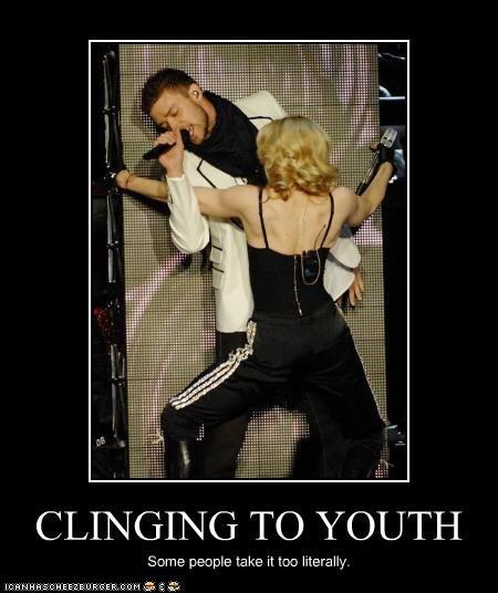 aging Justin Timberlake Madonna old people rocking out - 2426818304
