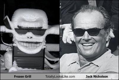 Frozen Grill Totally Looks Like Jack Nicholson Cheezburger Funny