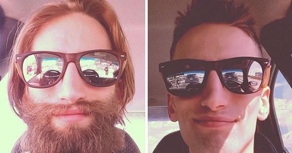 antes despues de barba