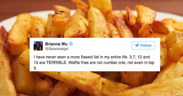 Graph ranking different kinds of fries invites tons of controversy from the internet.