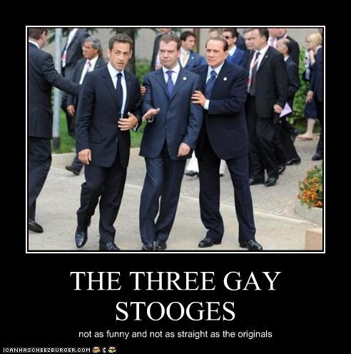 THE THREE GAY STOOGES not as funny and not as straight as the originals