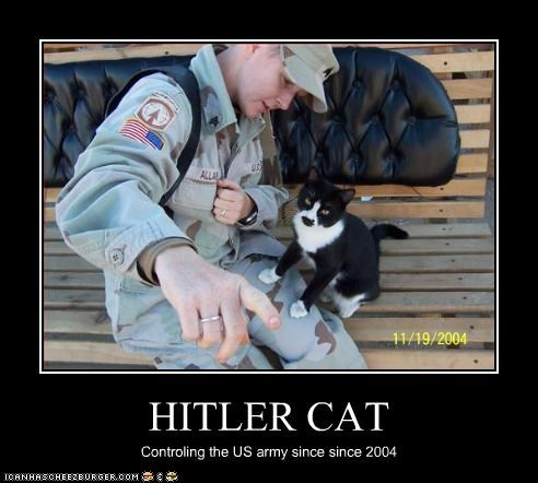 HITLER CAT Controling the US army since since 2004