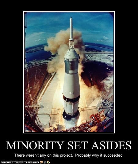 MINORITY SET ASIDES There weren't any on this project. Probably why it succeeded.