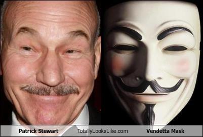 actor Guy Fawkes mask patrick stewart v for vendetta - 2434061568