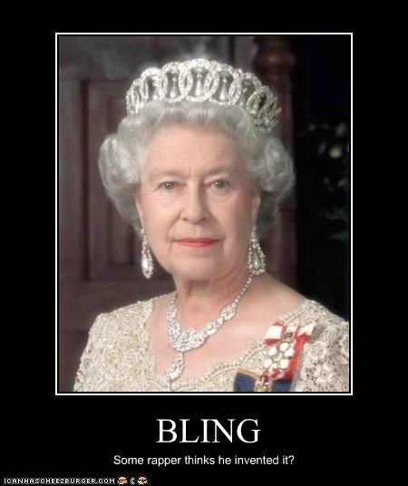 bling bling invention Music Queen Elizabeth II rap UK