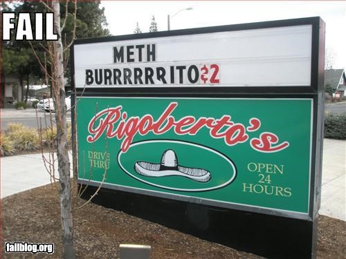 ads drugs failboat g rated marquee meth signs - 2435645184
