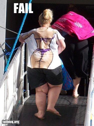 bikini body clothing fat g rated T.Shirt woman