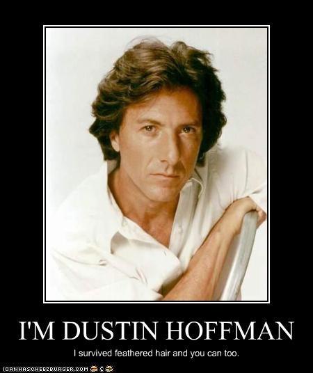 bad hair Dustin Hoffman feathered hair movies - 2437100800