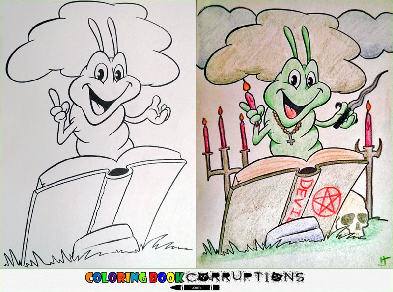 Single Topic Blog of the Day: Coloring Book Corruptions Takes the Wholesome and Makes it Dirty