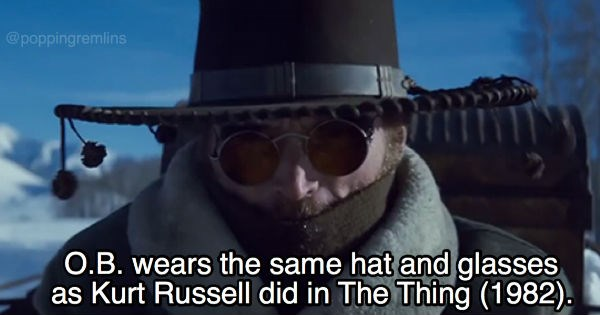 "Collection of fun trivia facts about Quentin Tarantino's ""The Hateful Eight"""