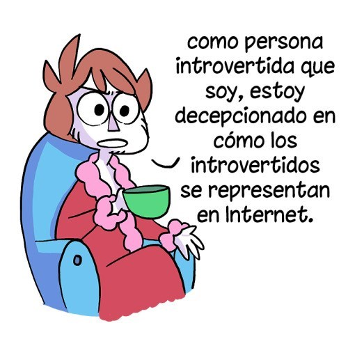 introvertido en comic