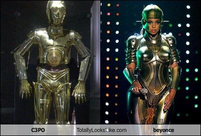beyoncé C3PO costume Music star wars