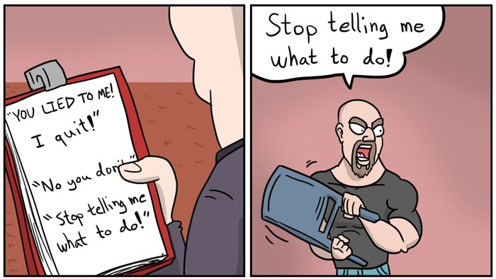 Funny web comic about a wrestler named Jack Hammer who finds out that wrestling is fake.