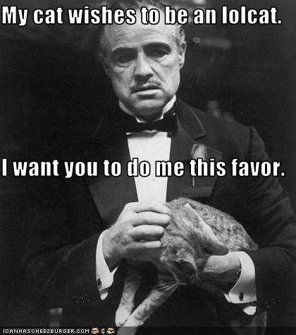 lolcats Marlon Brando the godfather - 2451981568