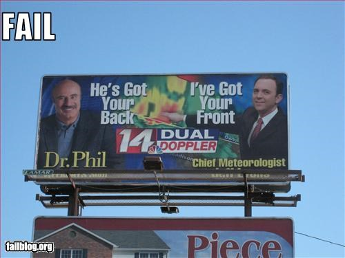 billboard dr phil failboat g rated juxtaposition news oddly specific sign - 2453381376
