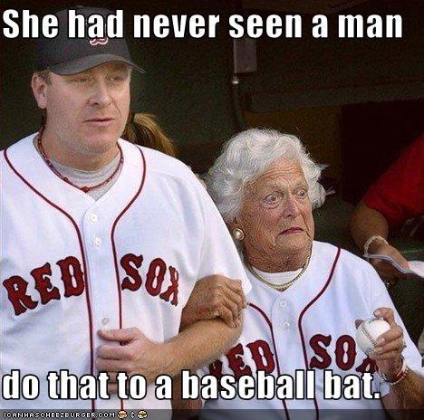 She Had Never Seen A Man Do That To A Baseball Bat Cheezburger