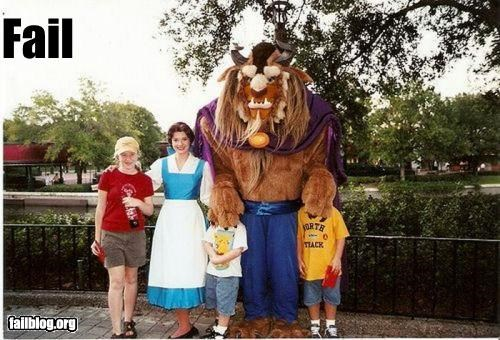 Beauty and the Beast costume covered disneyland face facepalm g rated Photo - 2461683968