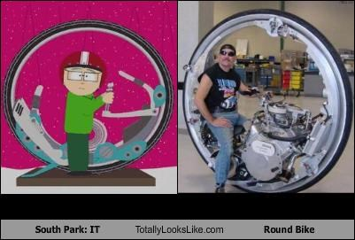 motorcycle,round bike,South Park