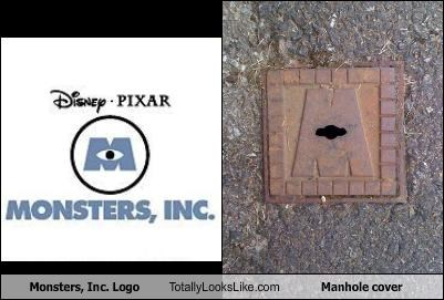 animation,cartoons,disney,inc,logo,manhole,monster,pixar