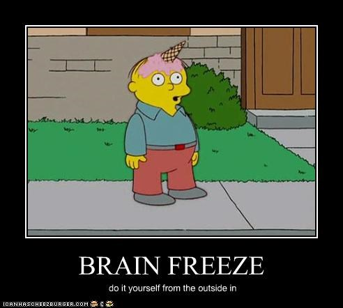 BRAIN FREEZE do it yourself from the outside in