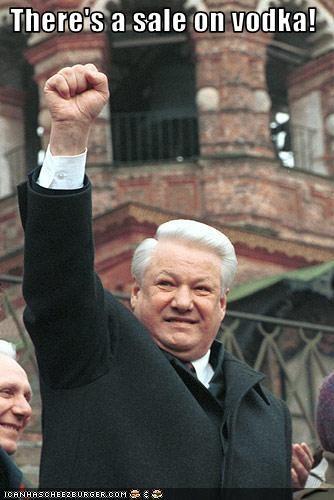 Boris Yeltsin president russia vodka - 2467340032